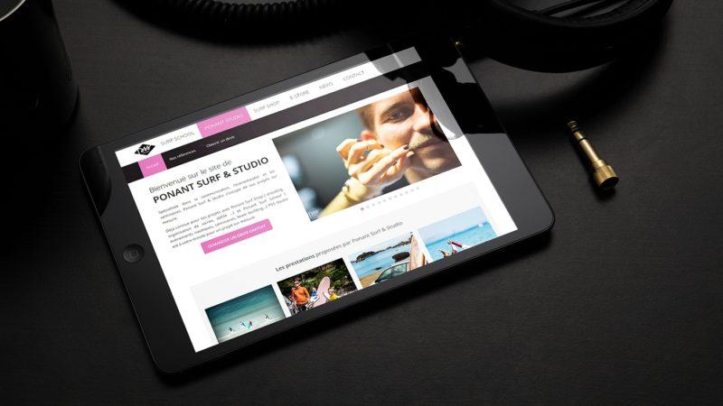 Site web administrable pour Ponant Studio