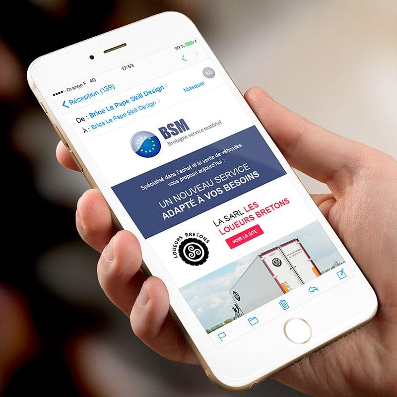 Newsletter responive consultable depuis un mobile